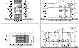 Mẫu bản vẽ thiết kế nhà phố đẹp rộng 6m – free download