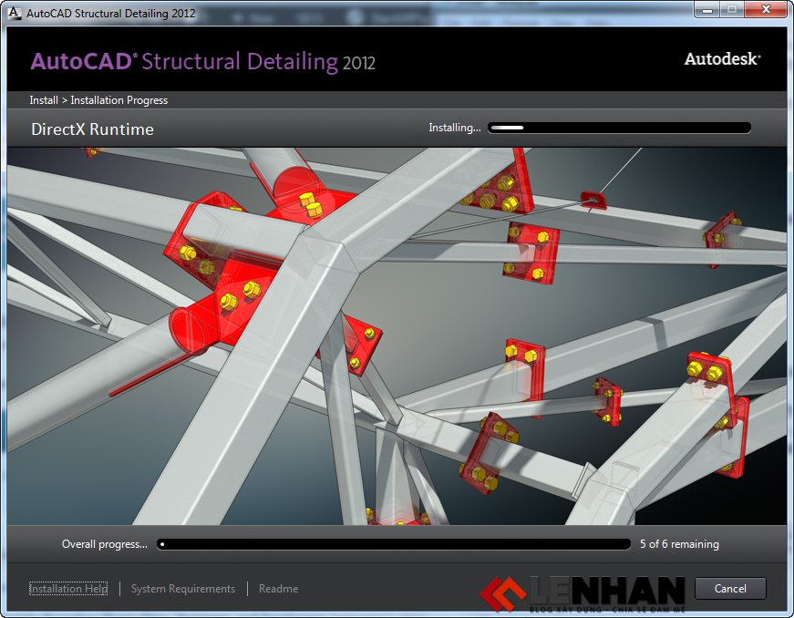 cac buoc cai AutoCAD Structural Detailing