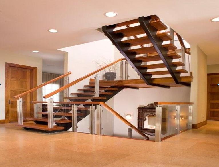 Cầu thang 2 đợt - mẫu 4