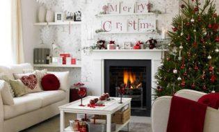 Trang trí phòng khách đẹp đón Giáng sinh và năm mới 2014