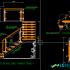 Bản vẽ autocad lan can kính – Lan can cầu thang