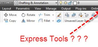 Cách load Express tools trong Autocad 2014