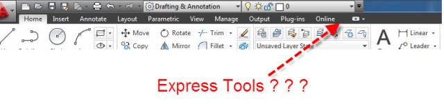 autocad express tool