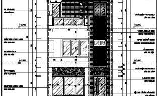 Download miễn phí bản vẽ nhà phố đẹp có mặt tiền rộng 6m