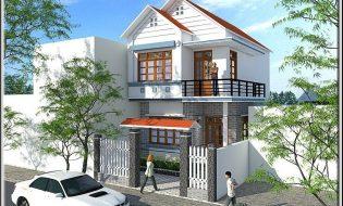 Bản vẽ nhà đẹp 2 tầng đơn giản – Download miễn phí