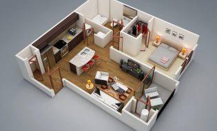 Những mẫu thiết kế căn hộ nhỏ có 1 phòng ngủ