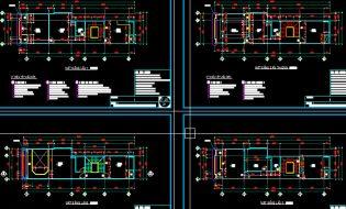 Full Bản vẽ nhà phố, nhà ống 5m x 16.5m x 5 tầng