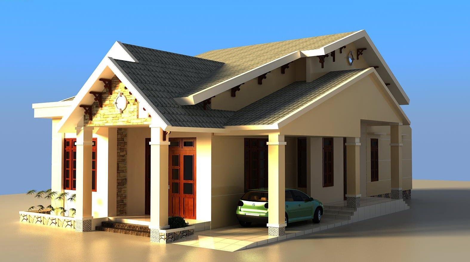 Full mẫu nhà đẹp 1 tầng 24 bản vẽ