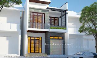 Phương án cải tạo nhà phố đẹp 2 tầng trên đất 7x16m