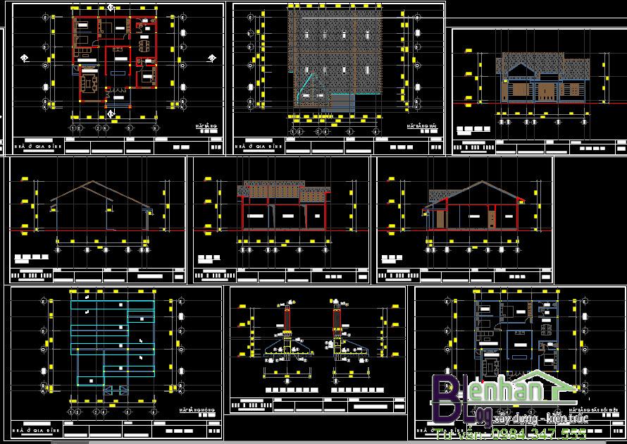 Bản vẽ thiết kế nhà vườn 1 tầng đẹp