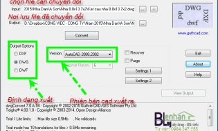 dwgConvert 7.0 – Chuyển đổi qua lại các versions Autocad (dxf,dwg )