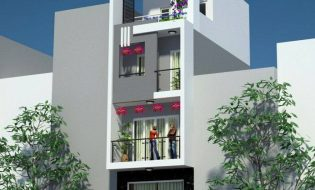 Mẫu thiết kế nhà phố 4mx8m 4 tầng- Nhà nhỏ đẹp 4m