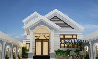 7 Mẫu nhà trệt 1 tầng mái thái hiện đại, chi phí thấp