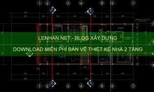 [Miễn phí] 61 Bản vẽ thiết kế nhà 2 tầng diện tích 8x18m