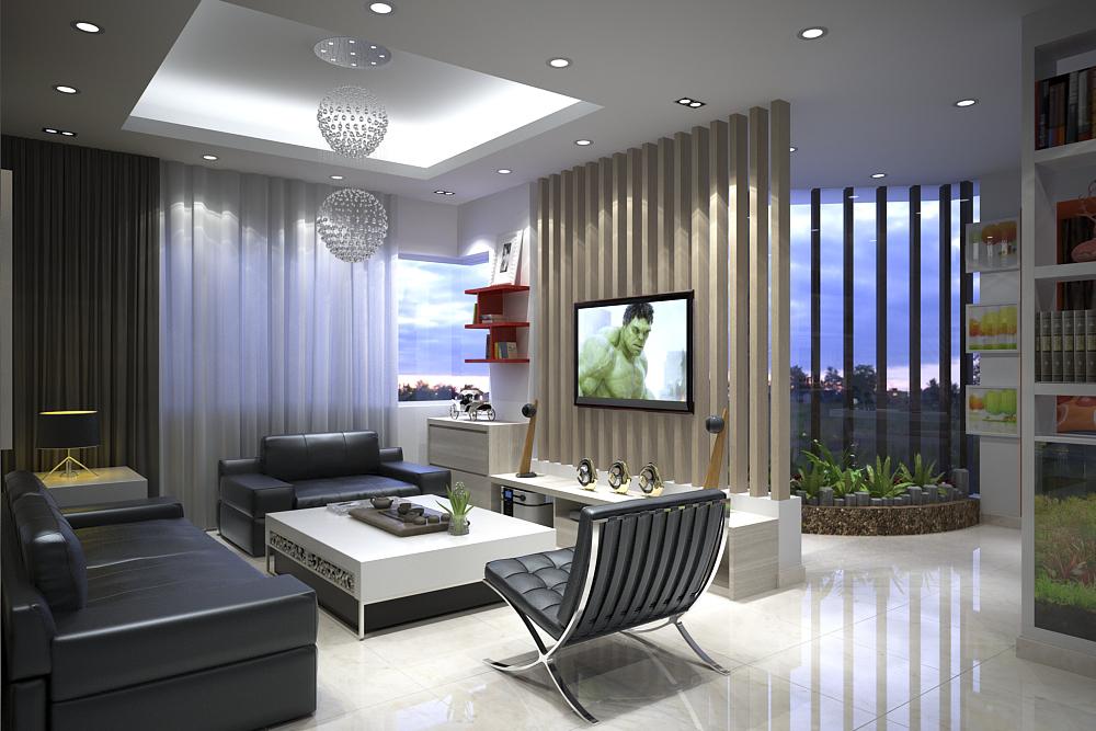 Thiết kế nội thất phòng khách đẹp1