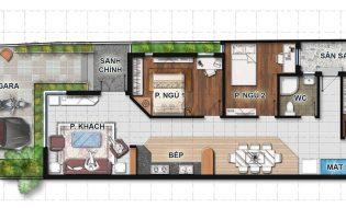 Bản vẽ nhà cấp 4 đẹp 1 tầng 3 phòng ngủ, sang trọng trên đất 6mx23m