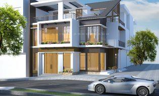 Khoác áo mới cho nhà phố đẹp, Cải tạo nhà phố đẹp 2 mặt tiền – 3 tầng Anh Dũng Đông Hà