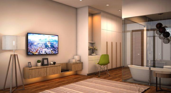 Không gian phòng vệ sinh mẫu thiết kế nhà phố 2.5 tầng đẹp hiện đại trên đất 72m2