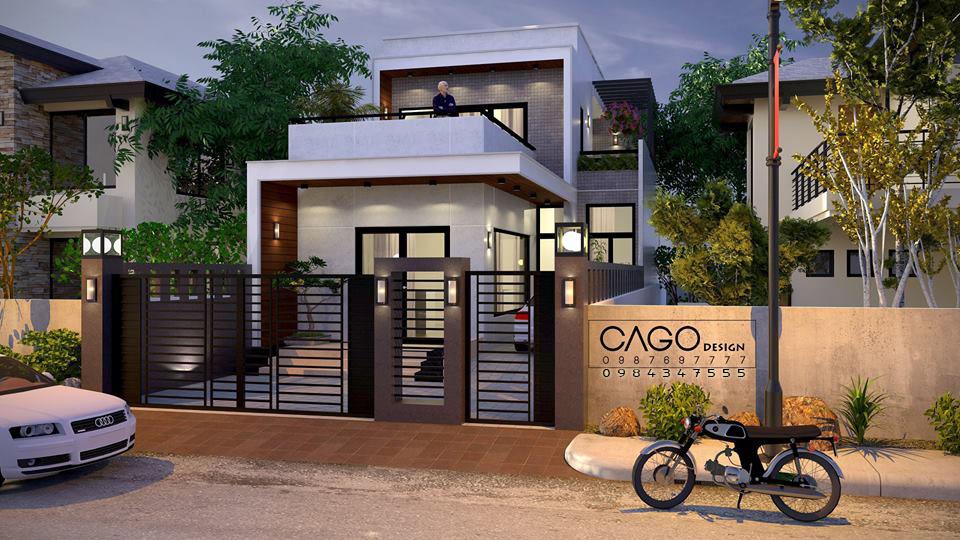 Thiết kế nhà 1.5 tầng đẹp, hiện đại trên đất 7x14m giá thành xây dựng 630 triệu