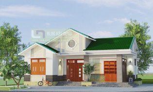 Mẫu thiết kế nhà 3 gian cách tân 1 tầng đẹp mắt kết hợp kinh doanh