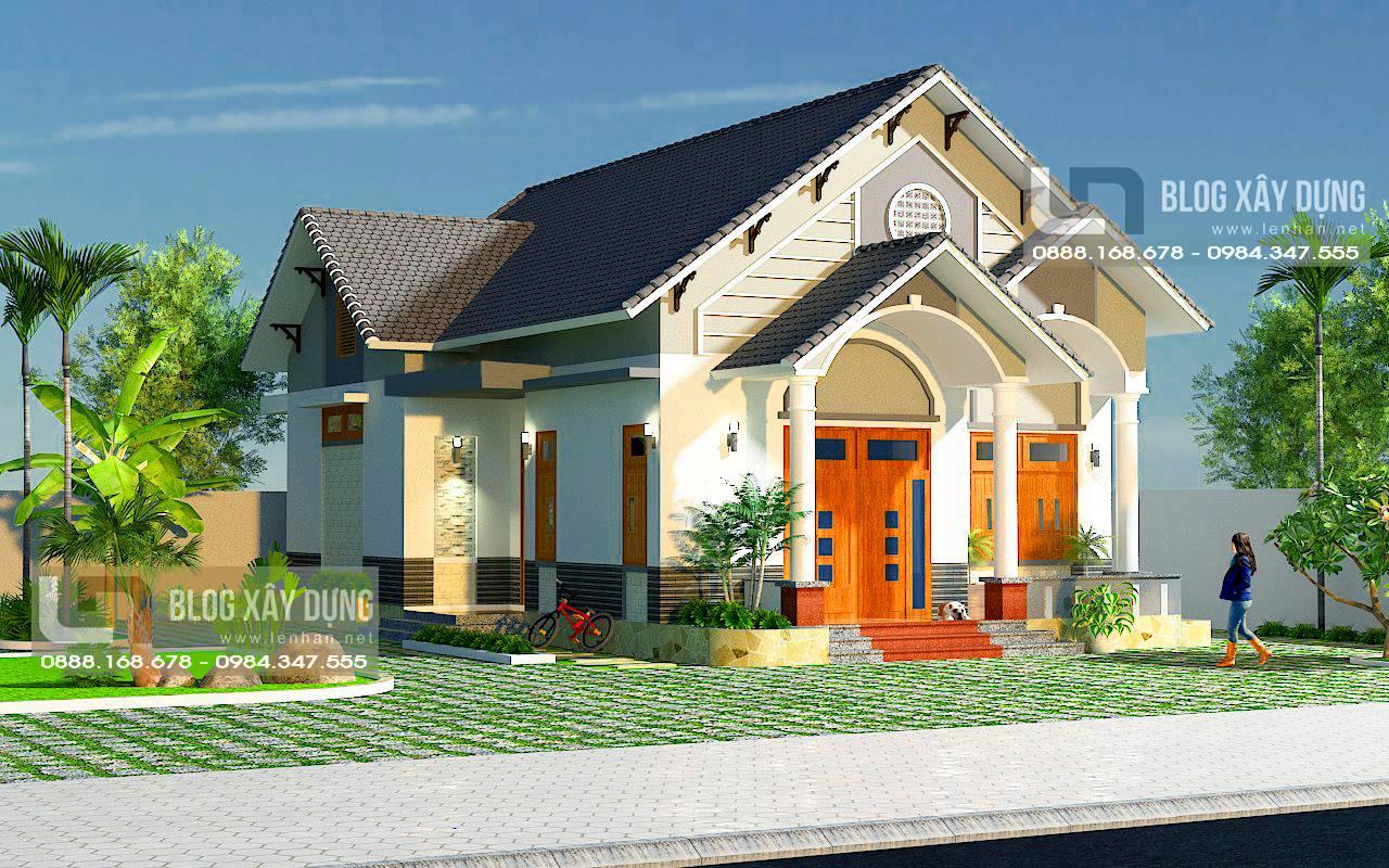 Thiết kế nhà vườn cấp 4 nông thôn 10x14m ở Hải Phòng – Mẫu nhà cấp 4 đẹp MS: LN-NV-555175