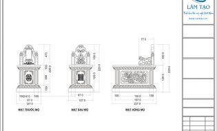 Bản vẽ thiết kế khu lăng mộ đá 4mx5m.