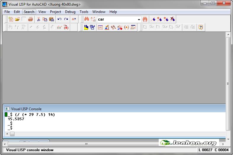 visual Lisp for Autocad