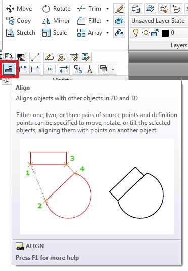 cong cu Autocad align tool
