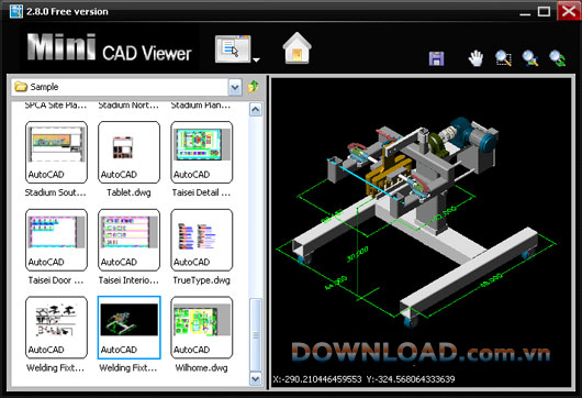 Xem-file-cad-Mini-CAD-Viewer