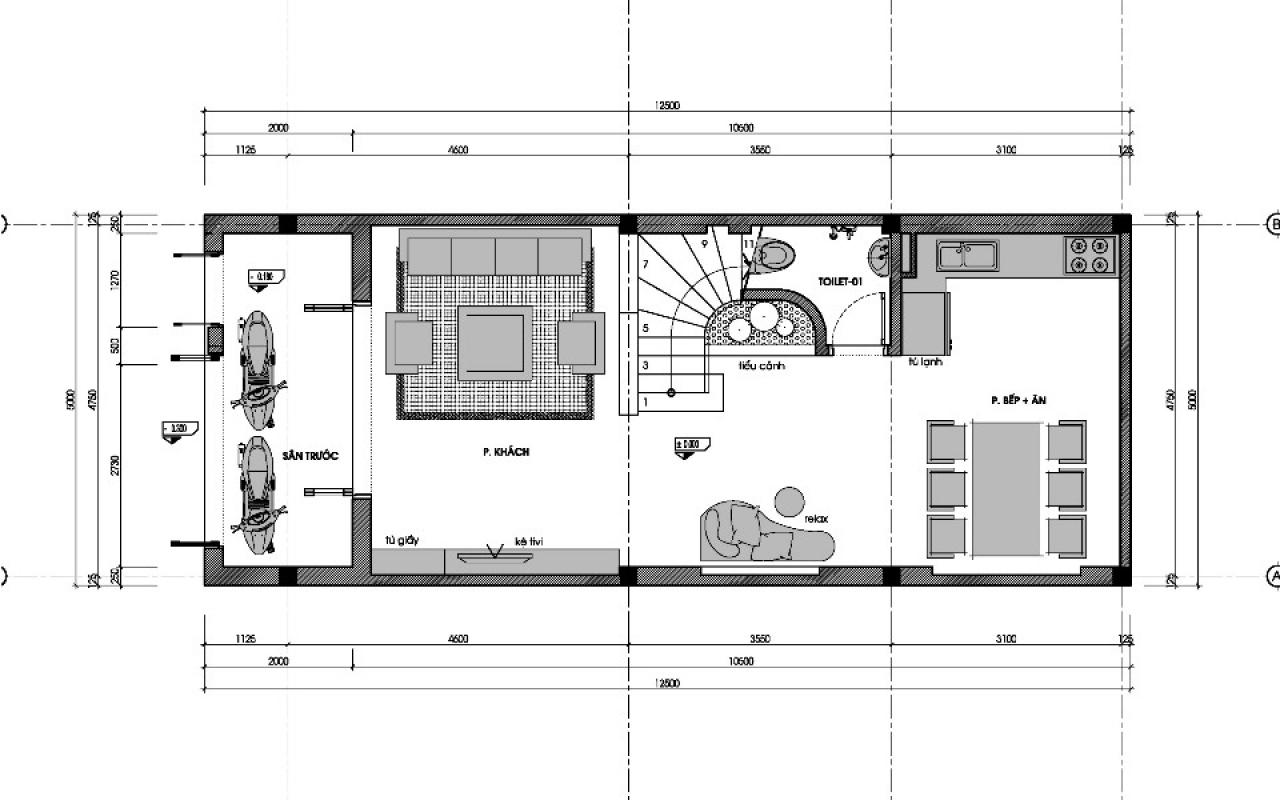 mẫu thiết kế nhà ống đep 2015 3 tầng