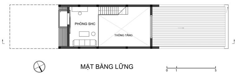 mat bang lung nha pho 2 tang - Thiết kế nhà phố 2 tầng đẹp giá rẻ trên đất 4x17m chi phí 300 triệu